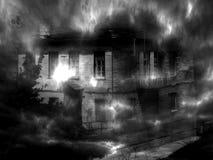Ducha zmroku dom Cyfrowej ilustracyjna sztuka Obrazy Royalty Free