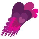 Duchas púrpuras del amor Foto de archivo libre de regalías