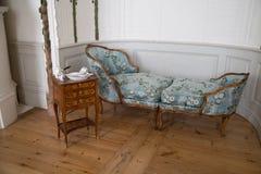 Duchess'洗手间室在Rundale宫殿,拉脱维亚 库存照片