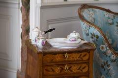 Duchess'洗手间室在Rundale宫殿,拉脱维亚 免版税图库摄影