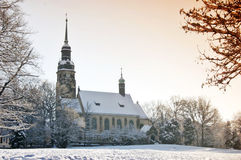 Duchess-Agnes memory church. In Altenburg in the winter Stock Photos