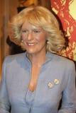 Duchessa di Camilla di Cornovaglia alla l$signora Tussaud Fotografia Stock