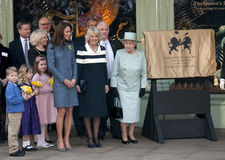 Duchessa di Cornovaglia, Elizabeth II, regina, regina Elizabeth, regina Elizabeth II, regina Elizabeth \ Fotografia Stock Libera da Diritti