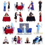 Duchowi Mistyczni ludzie ikona setu Zdjęcie Royalty Free