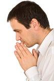 duchowny ja modli się Obrazy Royalty Free