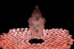 Duchowy enlightenment Tradycyjny Buddha głowy statuy illumina obraz royalty free
