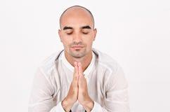 Duchowy mężczyzna modlenie, medytować i. obrazy royalty free