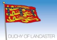 Duchy Lancaster flaga, Zjednoczone Królestwo, Anglia royalty ilustracja