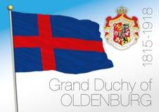 Duchy Oldenburg dziejowa flaga, Niemcy ilustracja wektor