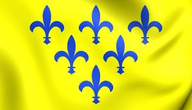 Duchy of Parma Flag. Duchy of Parma 3D Flag. Close Up Royalty Free Stock Image
