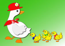 Duck. Mother duck and little duck for easter illustrations Stock Image