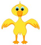 Duck. Illustration of a yellow duck. Isolated on a white background Stock Photography
