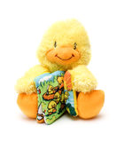 Duck. Mascot plush yellow duck on white background Stock Photos
