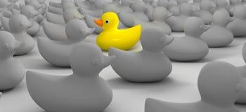 Duck Against The Flow en caoutchouc Photos libres de droits