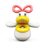Duck of balloons front view. On white background. 3d illustration Stock Photography
