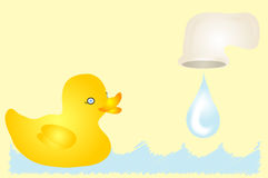 Duck in Bathtub vector illustration