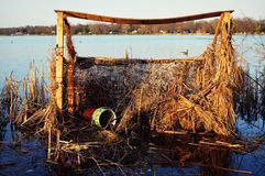Duck Blind royalty free stock photography