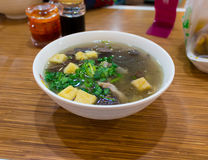 Duck Blood and Bean-Starchy Vermicelli Soup, Nanjing, Jiangsu, China Stock Image