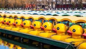 Duck Boats en el parque de Beihai Imagen de archivo libre de regalías