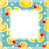 Duck border Royalty Free Stock Image