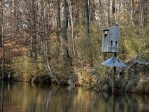 Duck Box. Wood Duck Nesting Box Royalty Free Stock Photos