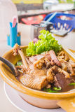 Duck braised beef noodle Stock Images