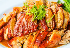 Duck braised red. Royalty Free Stock Photography