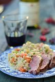 Duck breast with barley Stock Image
