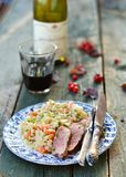 Duck breast with barley Stock Photo