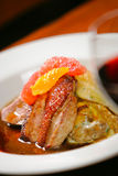 Duck breast with citrus Royalty Free Stock Photo