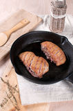 Duck breast with cut skin Stock Photo