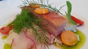 Duck Breast Dish stock afbeelding