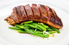 Duck breast with green beans Stock Photo