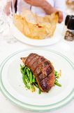 Duck breast with green beans Stock Photography