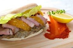 Duck Breast Kebab Sandwich Stock Image