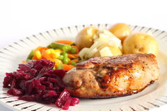 Duck breast meal A Royalty Free Stock Photography