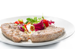 Duck Breast Meat and Salad Royalty Free Stock Photography