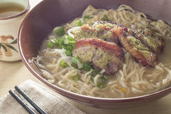 Duck breast noodle Royalty Free Stock Photography