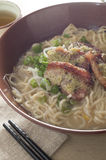 Duck breast noodle Stock Image
