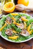 Duck breast and orange salad Stock Photo