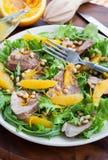 Duck breast and orange salad Stock Image