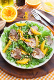 Duck breast and orange salad Royalty Free Stock Photo