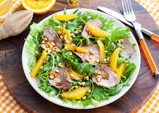 Duck breast and orange salad Stock Photos