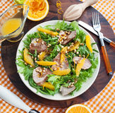 Duck breast and orange salad Royalty Free Stock Images