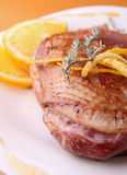 Duck breast and orange sauce Stock Photo