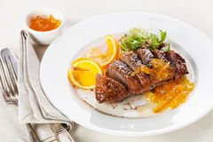 Duck Breast Roasted Imagens de Stock Royalty Free