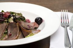 Duck breast salad Royalty Free Stock Photography