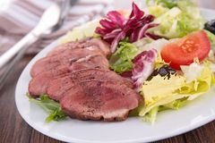 Duck breast salad Stock Image