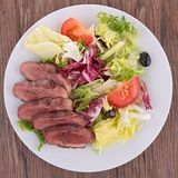 Duck breast salad Stock Photos