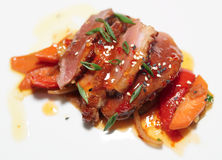 Duck breast with savory sauce Stock Photo